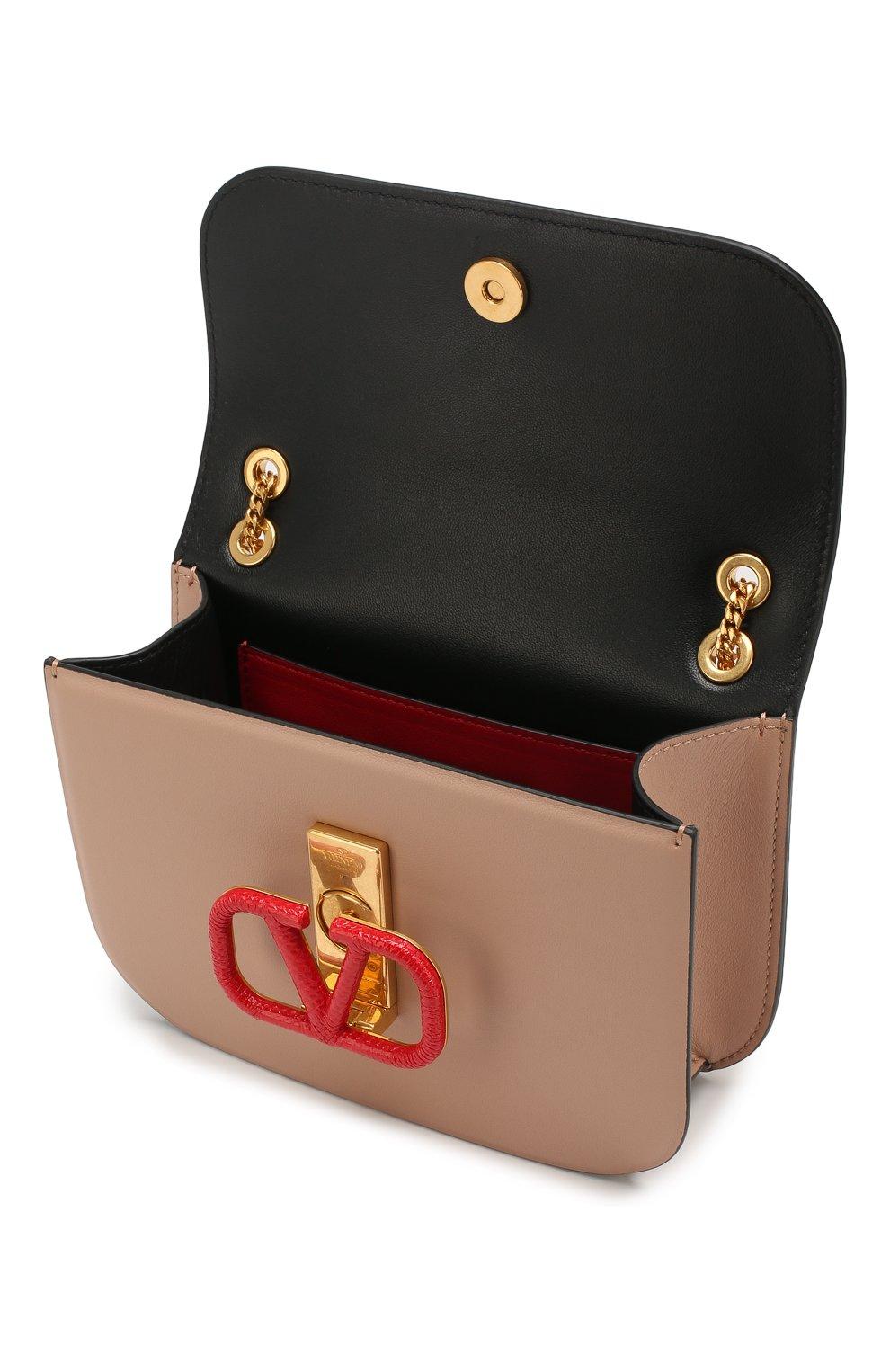 Женская сумка valentino garavani vlock small VALENTINO бежевого цвета, арт. SW0B0F21/JEA | Фото 4