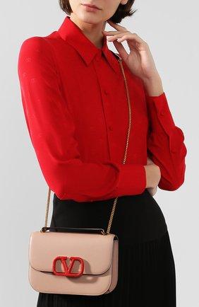 Женская сумка valentino garavani vlock small VALENTINO бежевого цвета, арт. SW0B0F21/JEA | Фото 5