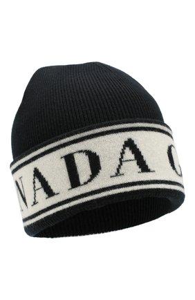 Женский шерстяная шапка CANADA GOOSE черного цвета, арт. 5511L | Фото 1