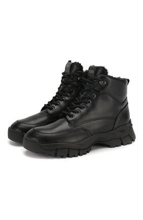 Женские кожаные ботинки sportivo TOD'S черного цвета, арт. XXW81B0CD01G0C | Фото 1