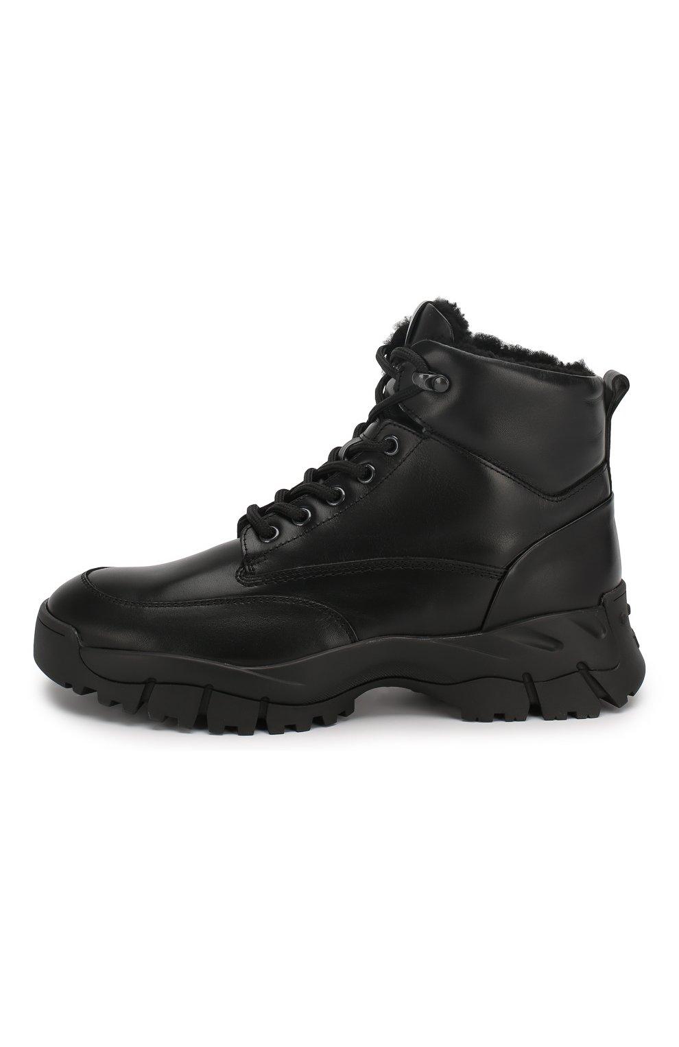Женские кожаные ботинки sportivo TOD'S черного цвета, арт. XXW81B0CD01G0C   Фото 3