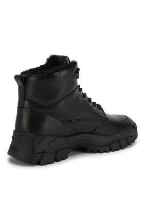 Женские кожаные ботинки sportivo TOD'S черного цвета, арт. XXW81B0CD01G0C   Фото 4