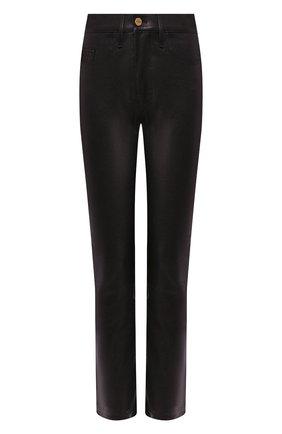 Женские кожаные брюки FRAME DENIM черного цвета, арт. LWLT0326 | Фото 1