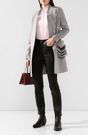 Женские кожаные брюки FRAME DENIM черного цвета, арт. LWLT0326 | Фото 2
