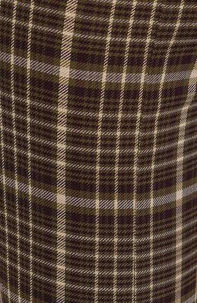 Женские брюки из смеси вискозы и шерсти ADAM LIPPES коричневого цвета, арт. F19506DU   Фото 5 (Материал внешний: Шерсть, Вискоза; Женское Кросс-КТ: Брюки-одежда; Статус проверки: Проверено, Проверена категория; Длина (брюки, джинсы): Укороченные)