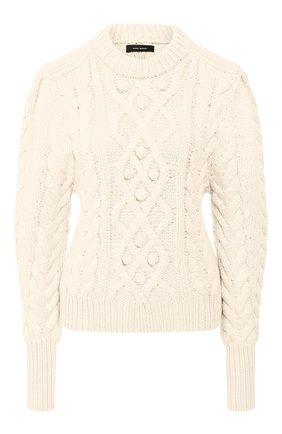 Женская шерстяной свитер ISABEL MARANT кремвого цвета, арт. PU1157-19H040I/MILF0RD | Фото 1