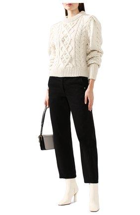 Женская шерстяной свитер ISABEL MARANT кремвого цвета, арт. PU1157-19H040I/MILF0RD | Фото 2