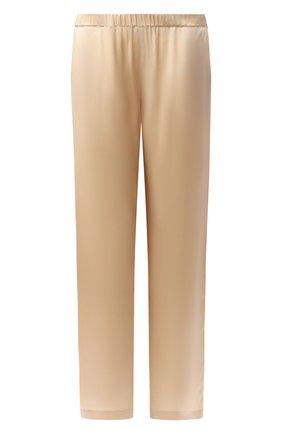 Женские шелковые брюки CARINE GILSON бежевого цвета, арт. SD0518-S W19 | Фото 1