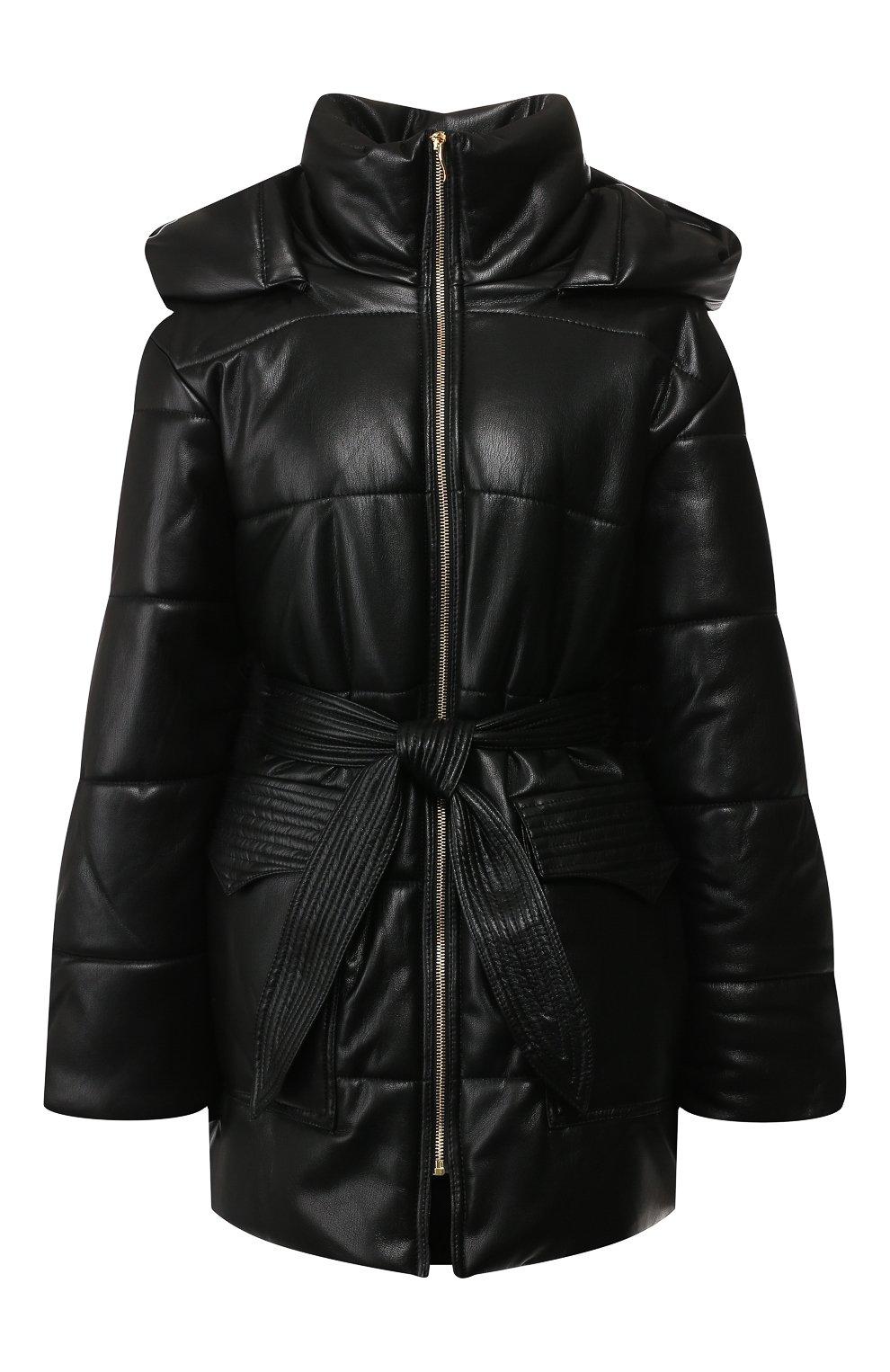 Утепленная куртка с поясом | Фото №1
