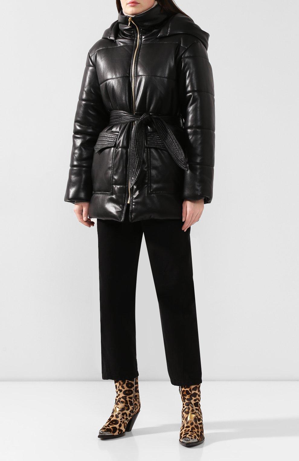 Утепленная куртка с поясом | Фото №2