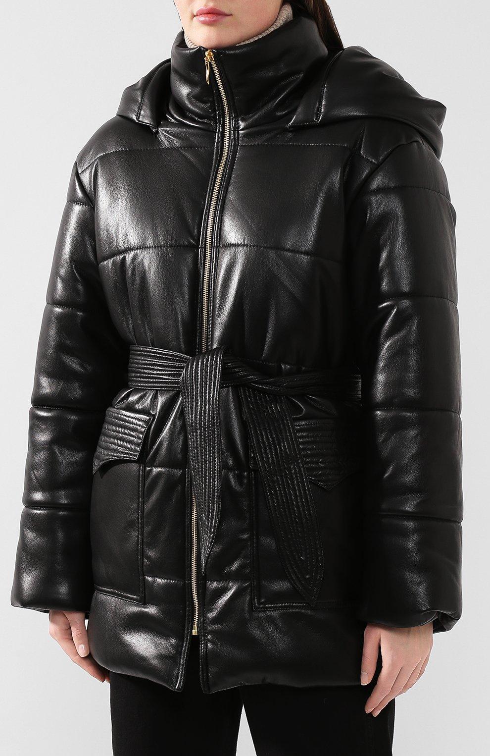 Утепленная куртка с поясом | Фото №3