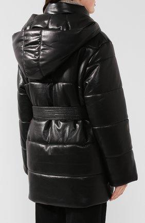 Утепленная куртка с поясом | Фото №4
