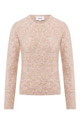 Женская пуловер NANUSHKA бежевого цвета, арт. REI_LATTE_W00L MELANGE KNIT   Фото 1