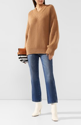 Женская шерстяной свитер NANUSHKA бежевого цвета, арт. VINCE_CAMEL_S0FT W00L RIB | Фото 2