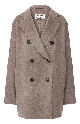Женское шерстяное пальто ACNE STUDIOS серого цвета, арт. A90187 | Фото 1