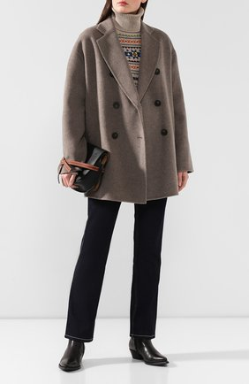Женское шерстяное пальто ACNE STUDIOS серого цвета, арт. A90187 | Фото 2
