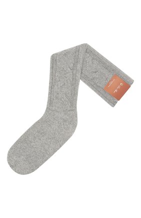 Женские кашемировые носки LORO PIANA серого цвета, арт. FAI3620 | Фото 1