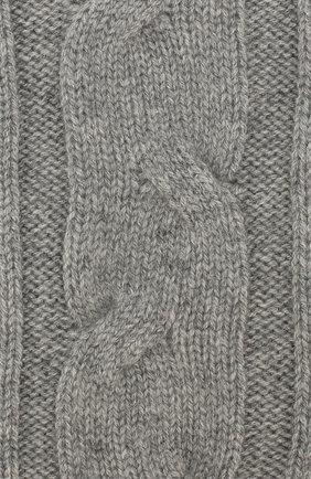 Женские кашемировые носки LORO PIANA серого цвета, арт. FAI3620 | Фото 2