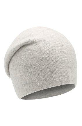 Женская кашемировая шапка TEGIN светло-серого цвета, арт. 3766A | Фото 1