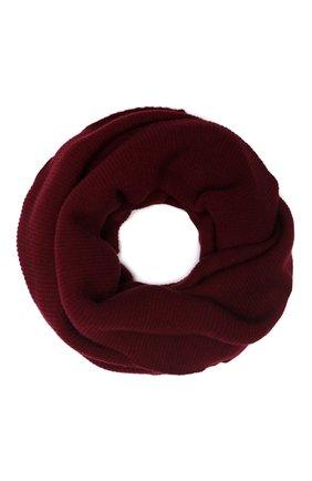 Мужской кашемировый шарф-снуд TEGIN бордового цвета, арт. 5233 | Фото 1