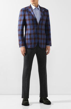 Мужская хлопковая сорочка ETON голубого цвета, арт. 1000 00019 | Фото 2