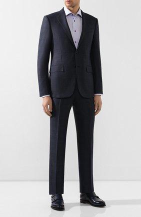 Мужская хлопковая сорочка ETON сиреневого цвета, арт. 1000 00272 | Фото 2