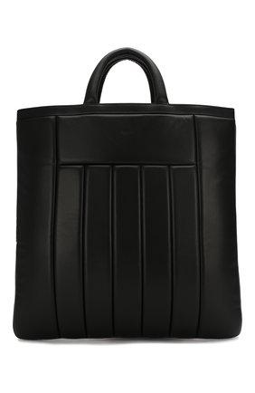 Мужская кожаная сумка-тоут DUNHILL черного цвета, арт. DU18F3890C0 | Фото 1