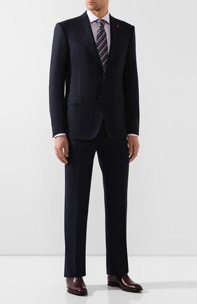 Мужская сорочка из смеси хлопка и шелка VAN LAACK сиреневого цвета, арт. MIVARA-LSF/151424 | Фото 2
