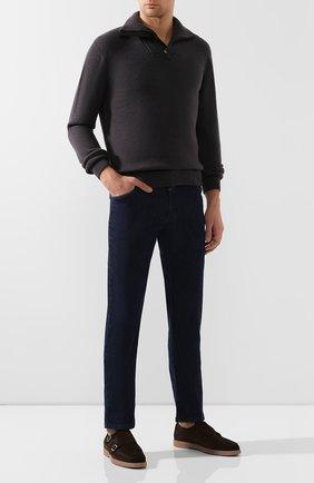 Мужские джинсы ZILLI темно-синего цвета, арт. MCS-00279-HIPE1/S001 | Фото 2