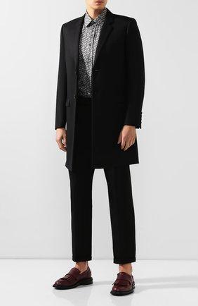 Мужская шелковая рубашка BURBERRY серого цвета, арт. 8014569 | Фото 2