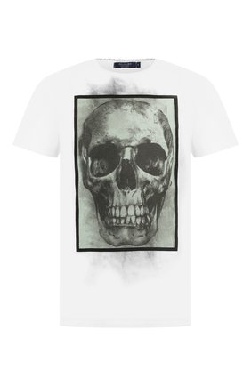 Мужская хлопковая футболка RELIGION белого цвета, арт. 39BBXF02 | Фото 1