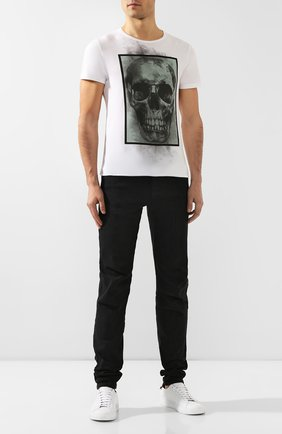 Мужская хлопковая футболка RELIGION белого цвета, арт. 39BBXF02 | Фото 2