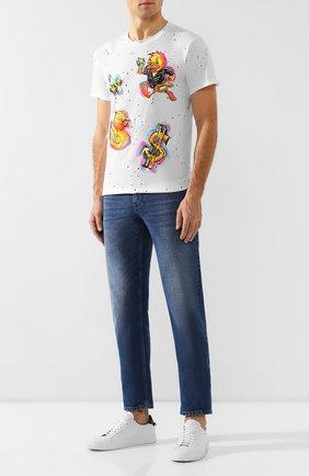 Мужская хлопковая футболка DOM REBEL белого цвета, арт. D0LLARCLUB/T-SHIRT/PAINT | Фото 2
