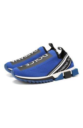 Мужские текстильные кроссовки sorrento DOLCE & GABBANA синего цвета, арт. CS1713/AH677 | Фото 1