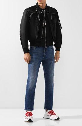 Мужские джинсы BURBERRY синего цвета, арт. 8019428 | Фото 2