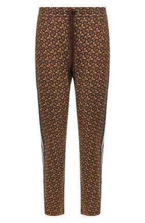 Мужской хлопковые брюки BURBERRY коричневого цвета, арт. 8018242 | Фото 1