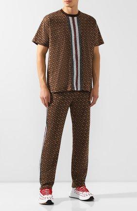 Мужской хлопковые брюки BURBERRY коричневого цвета, арт. 8018242 | Фото 2