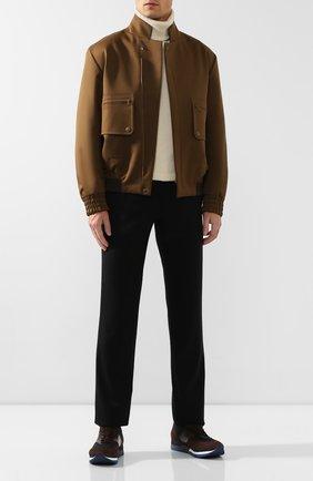 Мужские комбинированные кроссовки ZILLI коричневого цвета, арт. MDS-T071/001 | Фото 2