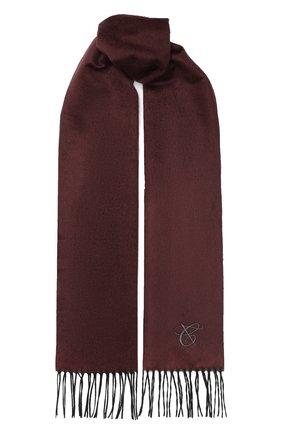 Мужской шарф из смеси шелка и кашемира CANALI бордового цвета, арт. 06/MF00016 | Фото 1