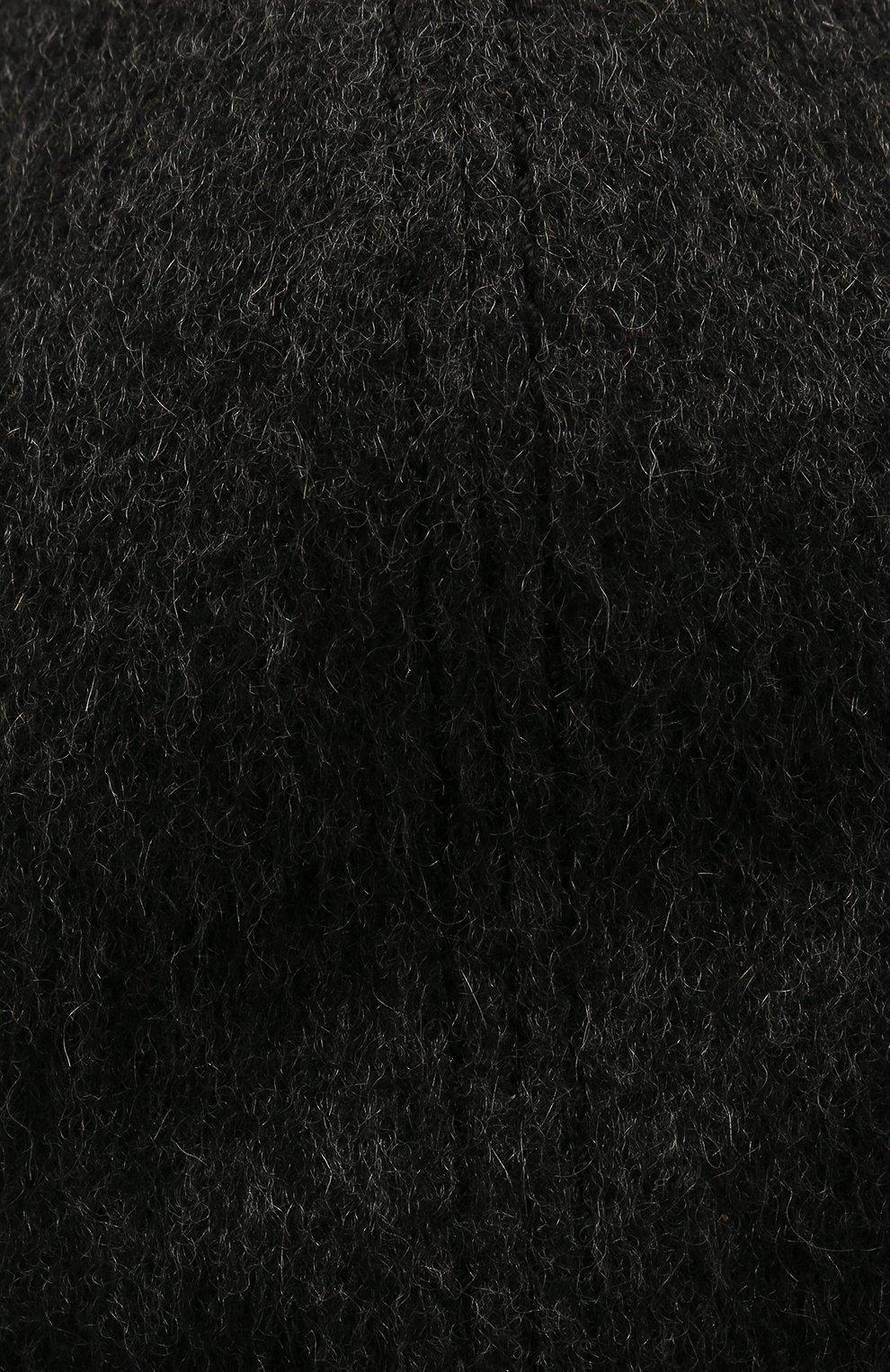 Мужской кашемировая бейсболка с кожаной отделкой ZILLI темно-серого цвета, арт. MHQ-CAP17-HUNT0/0001 | Фото 3