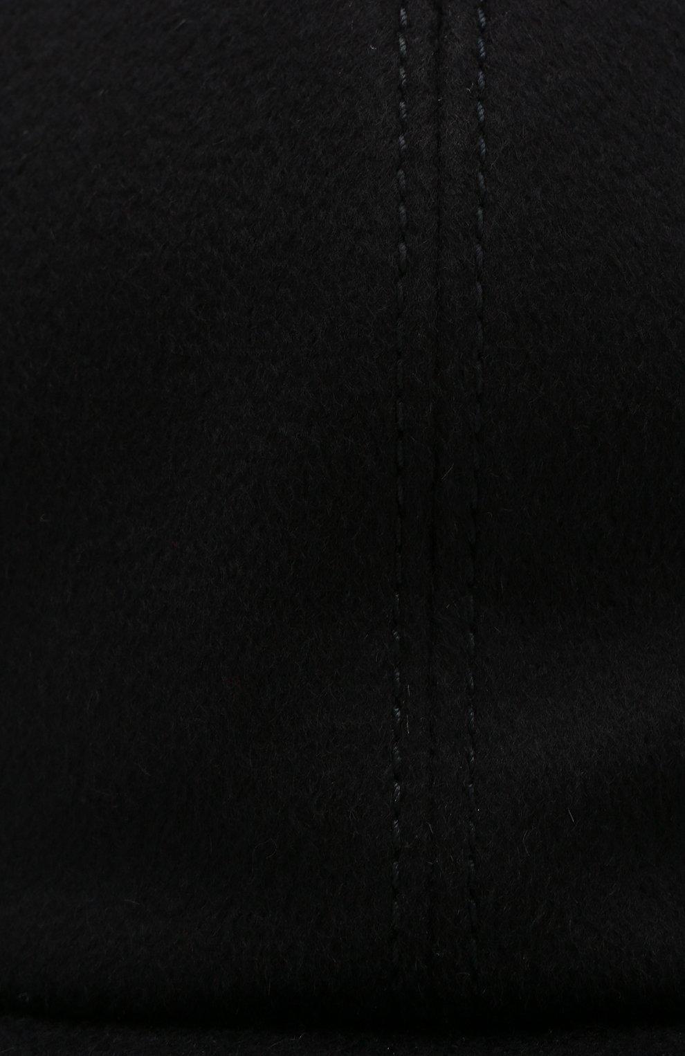 Мужской кашемировая бейсболка с кожаной отделкой ZILLI темно-синего цвета, арт. MHQ-CAP05-J0005/0001 | Фото 3