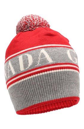 Мужская шерстяная шапка CANADA GOOSE красного цвета, арт. 5114L | Фото 1