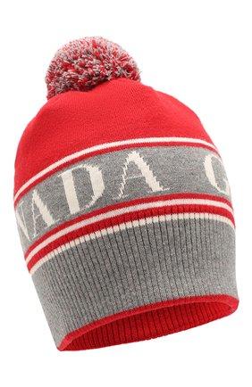 Мужская шерстяная шапка CANADA GOOSE красного цвета, арт. 5114M | Фото 1