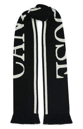 Мужской шерстяной шарф CANADA GOOSE черно-белого цвета, арт. 5508M | Фото 1