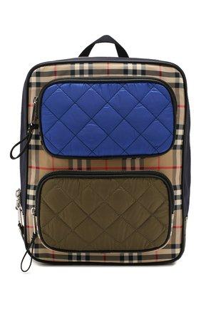 Детская текстильный рюкзак BURBERRY разноцветного цвета, арт. 8018787 | Фото 1