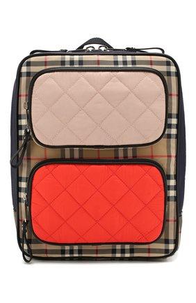 Детская текстильный рюкзак BURBERRY разноцветного цвета, арт. 8018629 | Фото 1