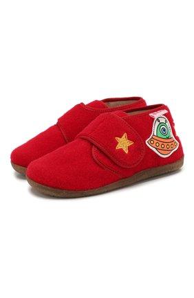 Детского домашние ботинки NATURINO красного цвета, арт. 0014000644/01/24-26 | Фото 1