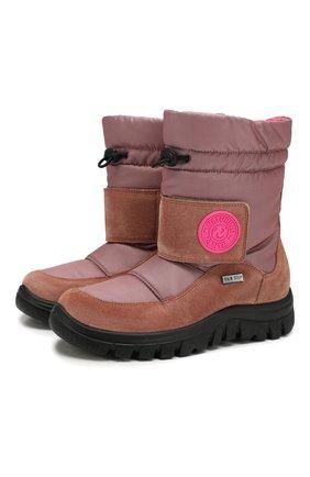 Детские утепленные сапоги NATURINO розового цвета, арт. 0013001375/01/27-32   Фото 1