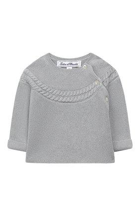Детский комплект из пуловера и брюк TARTINE ET CHOCOLAT голубого цвета, арт. TP36021/1M-1A | Фото 2