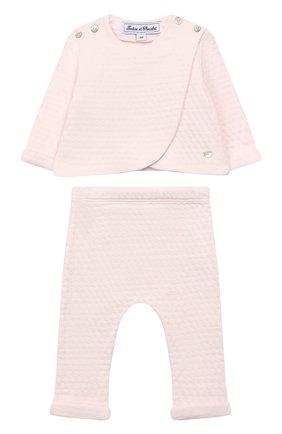 Детский комплект из кардигана и брюк TARTINE ET CHOCOLAT светло-розового цвета, арт. TP36011/1M-1A | Фото 1